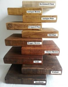 types of wood for shelves
