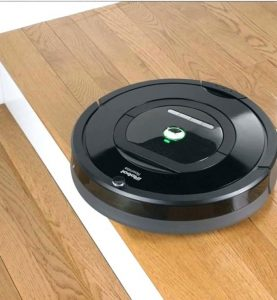 roomba on wooden floors